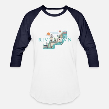 Evan Rivertown Map - Baseball T-Shirt