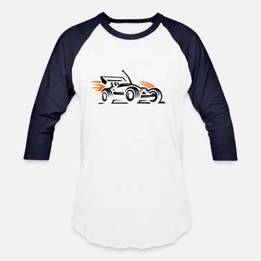 Racing Car racing car - Unisex Baseball T-Shirt