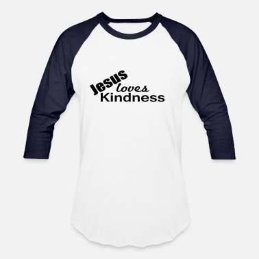 Eco Tank Jesus Loves Kindness - Unisex Baseball T-Shirt