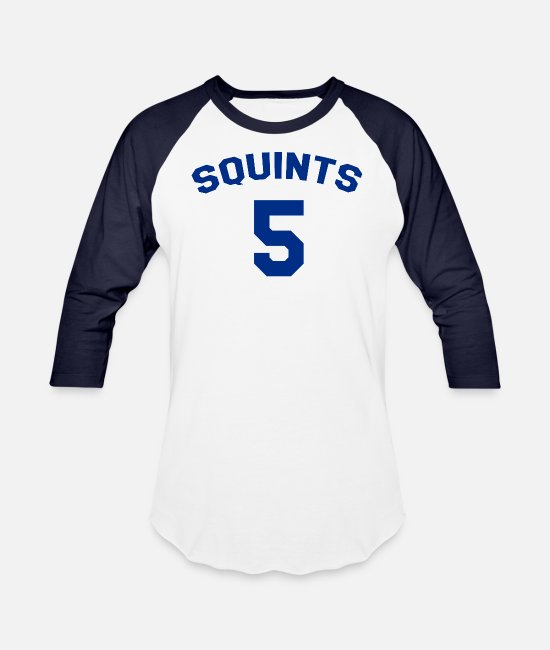 The Sandlot Squints Jersey T-Shirts - The Sandlot - Squints Jersey - Unisex Baseball T-Shirt white/navy