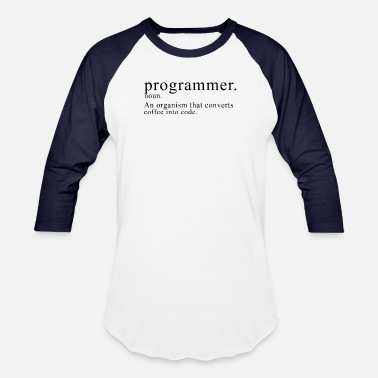 Descriptive Programmer Description - Unisex Baseball T-Shirt