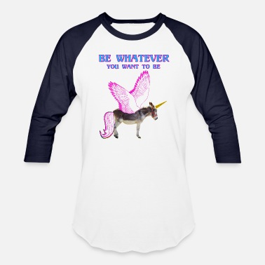 Wing Donkey unicorn - Baseball T-Shirt