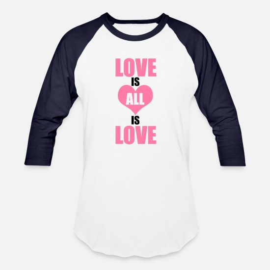 Love T-Shirts - Love is ALL is Love - Unisex Baseball T-Shirt white/navy