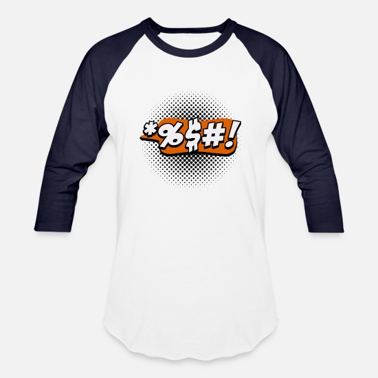 Gift Idea T-Shirts - Speech bubble cool funny!!! - Unisex Baseball T-Shirt white/navy