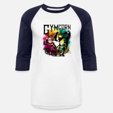 06d8feb5f Muscle unicorn muscles gymcorn - Unisex Baseball T-Shirt