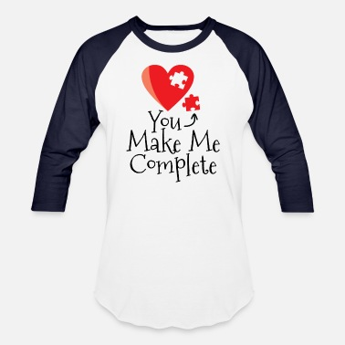 Puzzle Pieces You make me complete - Unisex Baseball T-Shirt