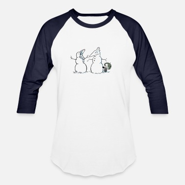 Deceased Recently Deceased Snowmen - Unisex Baseball T-Shirt