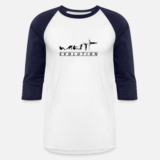 ff2c88e3 Calisthenics T-Shirts - Calisthenics Evolution Street Workout Exercises -  Unisex Baseball T-Shirt