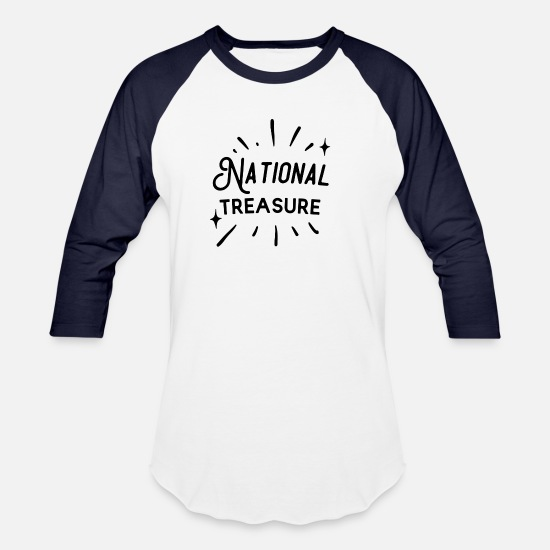 Birthday T-Shirts - National Treasure - Unisex Baseball T-Shirt white/navy