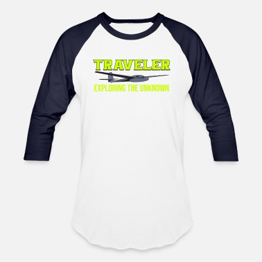 Unknown Traveler Exploring the unknown - Unisex Baseball T-Shirt