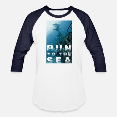 Wreck Diver Run to the sea - Malta wreck P29 - Baseball T-Shirt