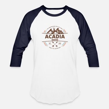 Acadia National Park Retro T-Shirt - Unisex Baseball T-Shirt