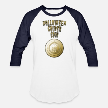 Golden Coin One Skull: The Official Halloween Coin - Unisex Baseball T-Shirt