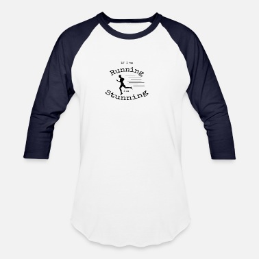 Fan Mile Running Stunning - Unisex Baseball T-Shirt