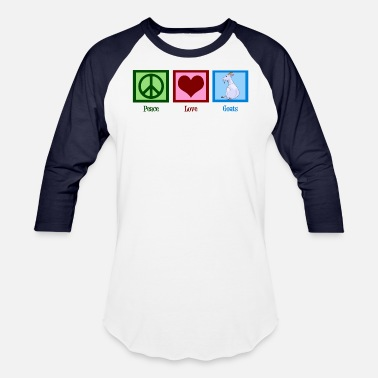 Cute Goat Peace Love Goats | Cute Goat - Baseball T-Shirt
