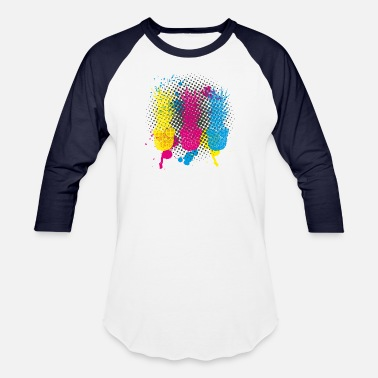 a8508728939 PopArt Pinapples Three Neon Color Funny Fruits - Unisex Baseball T-Shirt