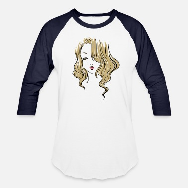Cute Girl Drawing in Colors - Unisex Baseball T-Shirt