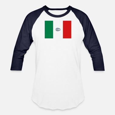Mexican Flag Mexican flag for proud santero - Baseball T-Shirt