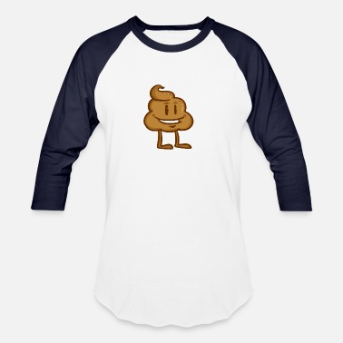 Stench Cartoon Poop Heap Shit Funny Gift Idea Excrement - Baseball T-Shirt