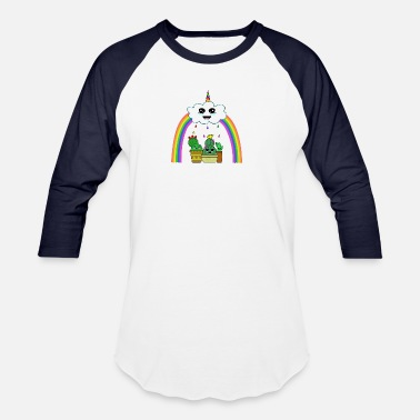 Flowercontest cactus rainbow cloud unicorn flowercontest - Unisex Baseball T-Shirt