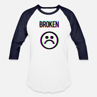 Broken my heart - Unisex Baseball T-Shirt