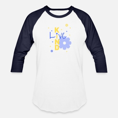 Marquis Live Kind - Blueberry - Unisex Baseball T-Shirt