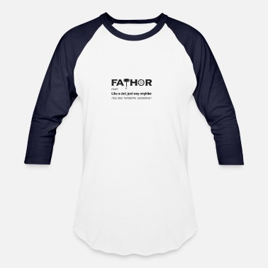 Rocker Mens Fathor Thor Viking Dad Father Pun Cool shirt - Unisex Baseball T-Shirt