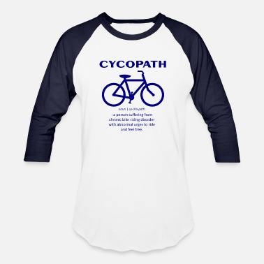Blue Collar Bike Design Blue 7 - Unisex Baseball T-Shirt