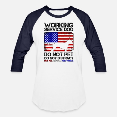 Service Dog PTSD Service Dog Remember Everyone Served Veteran - Baseball T-Shirt