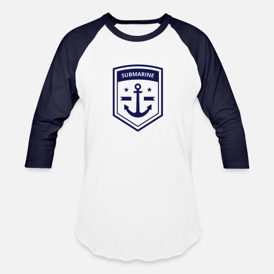 Submarine T-Shirts - Submarine - Unisex Baseball T-Shirt white/navy