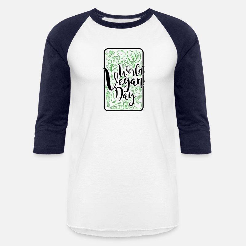 World Vegan Day Gift Idea Present Vegetarian 111 Unisex Baseball T