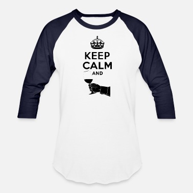 Keep Calm Author keep calm and - Baseball T-Shirt