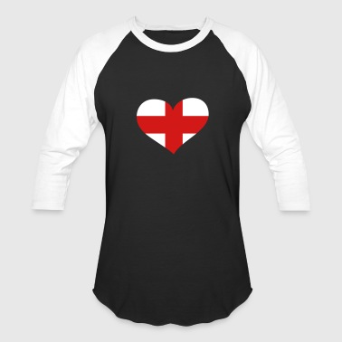 England Heart; Love England - Baseball T-Shirt
