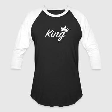 King with crown /Couples - Baseball T-Shirt