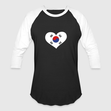 South Korea Heart; Love South Korea - Baseball T-Shirt
