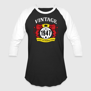 Vintage 1947 Aged to Perfection - Baseball T-Shirt