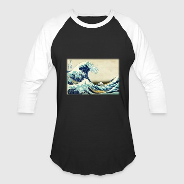 Great Wave off Kanagawa - Baseball T-Shirt
