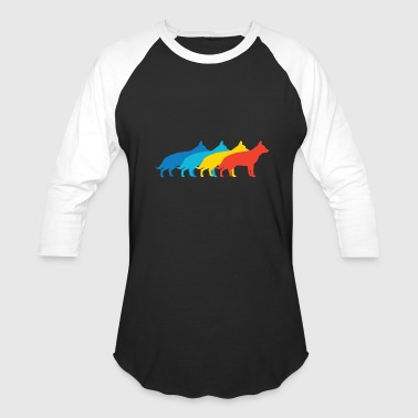 German Shepherd Art German Shepherd Pop Art - Baseball T-Shirt