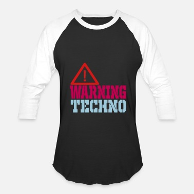 Warning Dj warning techno - Baseball T-Shirt