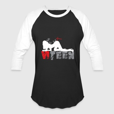 Black_Sweet Sixteen - Baseball T-Shirt