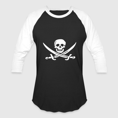 Sword Pirate PIRATE SKULL SWORD - Baseball T-Shirt