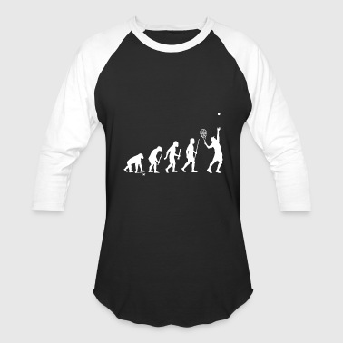 Tennis - Evolution of Man and Tennis - Baseball T-Shirt
