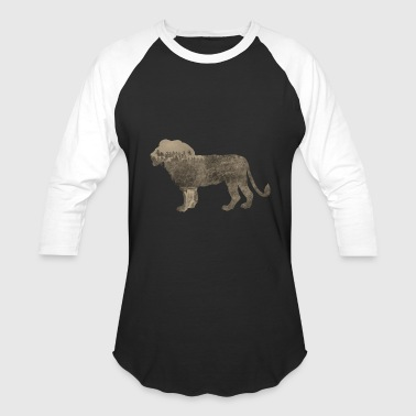 African Sportswear Silhouette Jungle Series Lion - Baseball T-Shirt