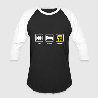Clash Of Clans Funny eat sleep clash quotes - Baseball T-Shirt