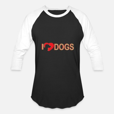 I Love Dogs I love dogs | Heart dogs love - Baseball T-Shirt