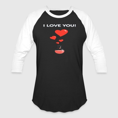 Flask Of Hearts Geek Valentine s Day Card - Baseball T-Shirt