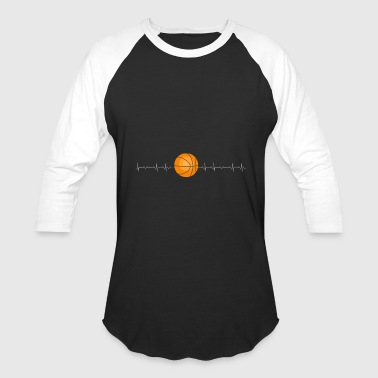 Basketball - Basketball Heartbeat - Baseball T-Shirt