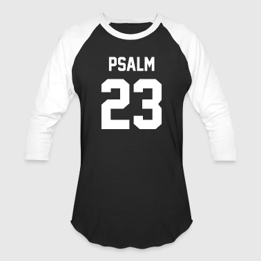 Psalm 23 (White) - Baseball T-Shirt