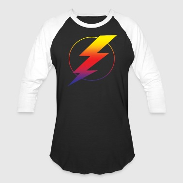 Red Lightning Bolt Lightning Bolt - Baseball T-Shirt