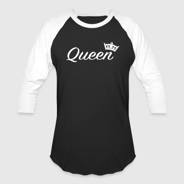 Queen with crown /Couples - Baseball T-Shirt